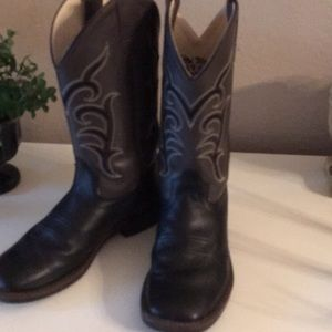 Old West cowboy boots youth boys 5 1/2